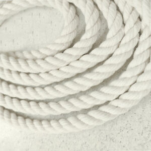 10 mm thick Premium Quality Natural Soft Cotton Rope Cord Twisted Twine Macrame