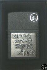 Zippo Pewter Emblem Black Crackle Lighter Model 363 NEW