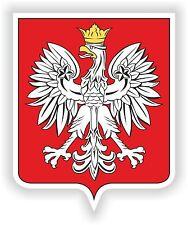 Escudo de Armas de la etiqueta engomada de Polonia polaco Bumper Casco Moto Motociclista Barco Laptop