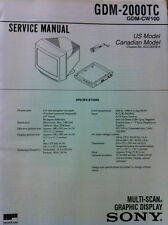 Sony original service manual for Gdm-2000Tc Display