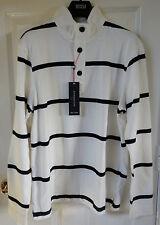 M&S Blue Harbour Men Pure Cotton T-Shirt - White Mix, Size M, BNWT, was £29.50