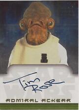 "Star Wars Evolution - Tim Rose ""Admiral Ackbar"" Auto / Autograph Card"