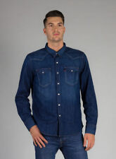 Camicie casual e maglie da uomo blu denim taglia M
