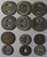 12 Transit Tokens Mixed Sizes and Cities Some Higher Value whotoldya Lot 9218