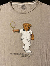 Polo Bear By Ralph Lauren Tennis XL T-Shirt Gray Grey