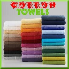 100% COTTON PLAIN TOWELS FACE HAND BATH TOWEL & LARGE JUMBO BATH SHEET