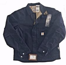 CARHARTT MENS SIZE SMALL FLAME RESISTANT BLUE CANVAS FR DEARBORN JACKET COAT NWT