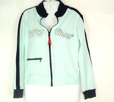 55DSL Retro Track Jacket Sz S 55 Diesel Fifty Five Dsl Blue spell out zip front