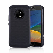 32nd Heavy Duty Dual Layer Shockproof Protective Case Cover for Motorola PHONES Moto G5 Plus Black