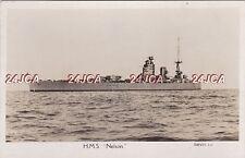 "Royal Navy Real Photo RPPC. HMS ""Nelson"" Battleship. WW11.  Great image! c 1927"