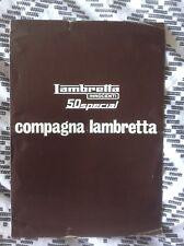 LAMBRETTA ORIGINALE 50 SPECIAL SALES BROCHURE/illustrativo anni'60