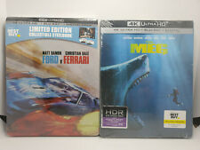 Ford v Ferrari 4K STEELBOOK + The Meg 4K STEELBOOK 4K+Blu-ray+Digital Copy