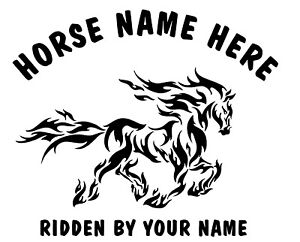 "2 x 10"" (TRIBAL / FLAME) HORSE TRAILER, VAN CAR DECALS VINYL GRAPHICS STICKER"
