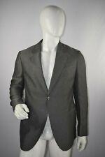 NWT $1,014 Armani Collezioni Men's Grey One Button Suit Jacket Size 52 EUR
