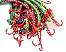 10pc 12 Color Bungee Cord Tie Down Set Straps 2 Hook End