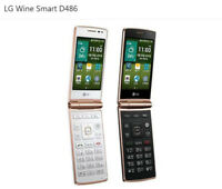 "4G LTE LG Wine Smart D486 4G ROM 1GB RAM 3.5"" Android Quad-core CPU Flip Phone"