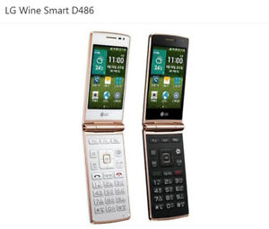 "4G LTE LG Wine Smart D486 1GB RAM 4G ROM 3.5"" Android Flip Phone Quad-core CPU"