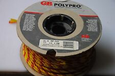 "Polypropylene Rope 1/4"" x 250 ft. Yellow with Red Stripe"