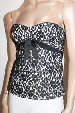 Pilgrim Designer Black Lace Corset Bustier Top Size 8-XS BNWT #SV53