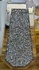 XXL Diamond Crushed Crystal Sparkly Silver Mirrored Floor Vase - 70cm 💎 - UK