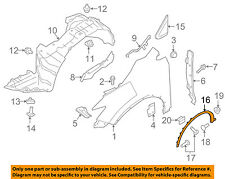 NISSAN OEM Murano Front Fender-Wheel Well Flare Arch Molding Left 768535AA0A
