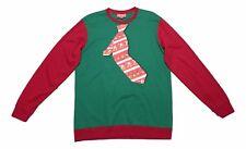 Holiday Fleece Big & Tall Size LT Red Green Tropical Surfing Santa Sweatshirt