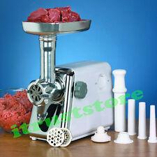 POWERFUL ELECTRIC MEAT GRINDER SAUSAGE MINCER MAKER GRINDS 2 LB CUT MEAT PER MIN