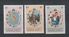 VANUATU 1981 ROYAL WEDDING SET OF ALL 3 COMMEMORATIVE STAMPS MNH