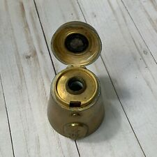 Antique Brass Bell Shaped Novelty Traveling Inkwell Marked Bell Collectible