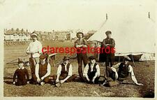 Vintage Photo Group of Fairground or Circus workers and tent Edwardian?