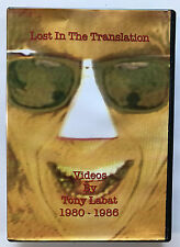 Lost in the Translation DVD Videos by Tony Labat 1980-1986 V Good Free Shipping