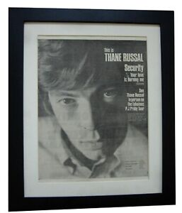 THANE RUSSAL+Security+TOUR+POSTER+AD+RARE ORIGINAL 1966+FRAMED+FAST GLOBAL SHIP