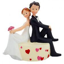 HOCHZEITSTORTE FIGUR MARRY ME YEAH 10 cm hoch Tortenfigur Brautpaar NEUWARE