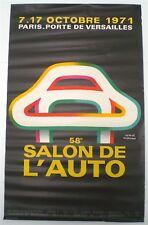 HERVE MORVAN – 58ème SALON DE L'AUTO – AFFICHE ORIGINALE  - TRES RARE – 1971