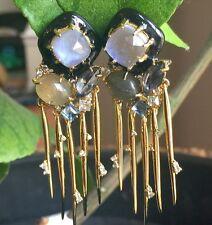 Alexis Bittar Purple Crystal Earrings (clip)