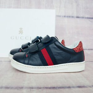 Gucci Leather Blue Kids Baby Sneakers Shoes Boots 22 US 6 - 6 1/2 6.5 Girls Boys