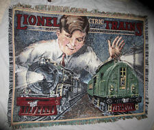Lionel Trains Afghan Throw Lap Blanket Wall Hanging Northwest Co Vint Graphics