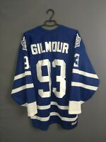 Gilmour Toronto Maple Leafs Ice Hockey Mens L Jersey Long Sleeve Shirt CCM ig93