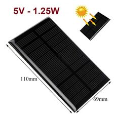 Placa Panel Solar 5V 1.25W 250mA - Silicio Monocristalino - Alto Rendimiento