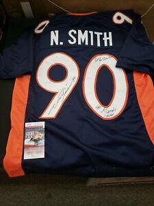 Neil Smith Denver Broncos #90 Signed & JSA Authenticated Jersey Chiefs