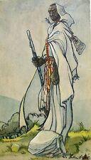 um1910 / Arabischer Krieger / Jugendstil - Gemälde undeut.signiert W.F...?