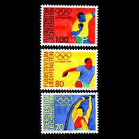 Liechtenstein 1984 - Olympic Games - Los Angeles, USA - Sc 784/6 MNH