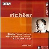 "CD x 2 BBC LEGENDS BBCL 4021-2 Debussy; Chopin; Prokofiev ""richter"" (Sviatoslav)"
