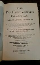 1896 the Great Campaign~Parties, leaders, struggles~politics~history