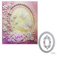 elliptical lace cutting dies stencil scrapbook album paper embossing craft diy I