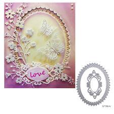 elliptical lace cutting dies stencil scrapbook album paper embossing craft diyST
