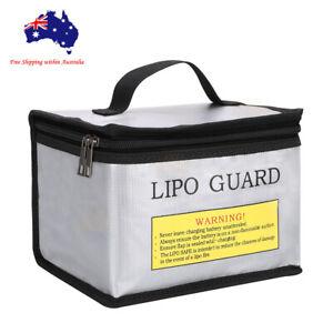 Li-Po Lipo Battery Waterproof Fireproof Safe Guard Bag 215x 145x 165mm Silver