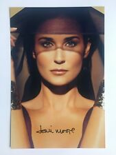 DEMI MOORE - HAND-SIGNED 12X8 PHOTO AUTOGRAPH