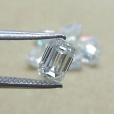 Cubic Zirconia (CZ) 5.5x3.5 MM Emerald White Vibrant Loose Stone For Jewelry