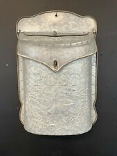 Wall Mail box Vintage Galvanized post box with swallow design Light mail use